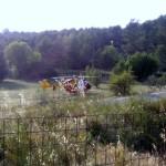 Intervention 'hélicoptère de le sécurité civile en raison de la gravité de l'accident de moto du 9 juin 2016 vers 18h15