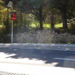 Radar Pédagogique en place en amont du carrefour D96/chemin de St François